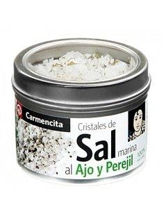 Cristales de sal marina con...